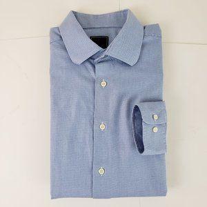 David Donahue Button Down Dress Shirt Blue